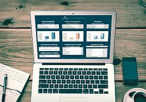 Relatório gerencial na tela do computador