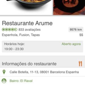 Tela do app TripAdvisor
