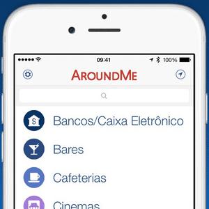 Tela do app AroundMe
