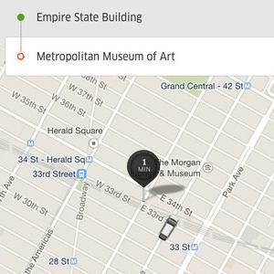 Tela do app Uber